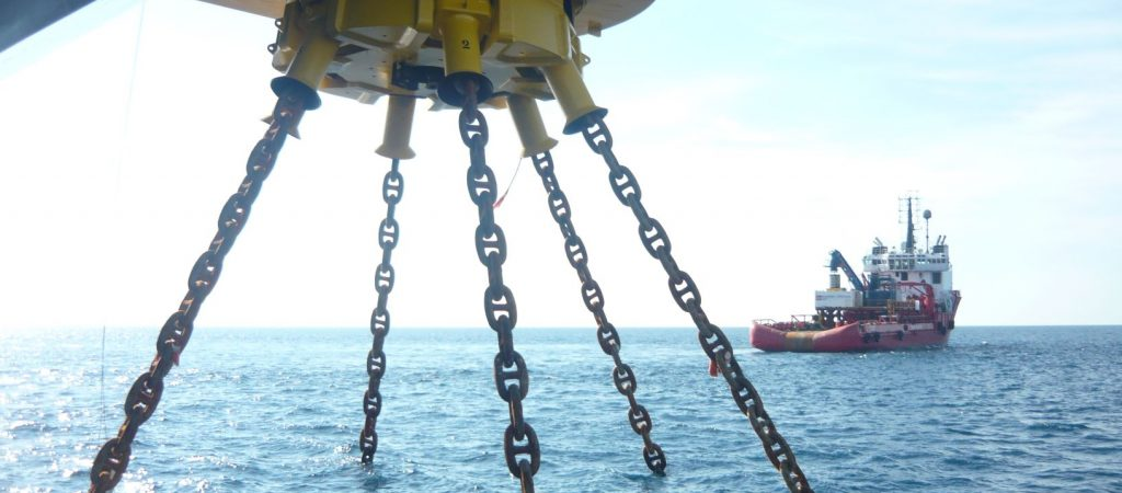 Single point mooring analysis for disconnection and re-connection of chains and risers